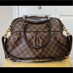 Authentic LOUIS VUITTON DAMIER CANVAS TREVI PM